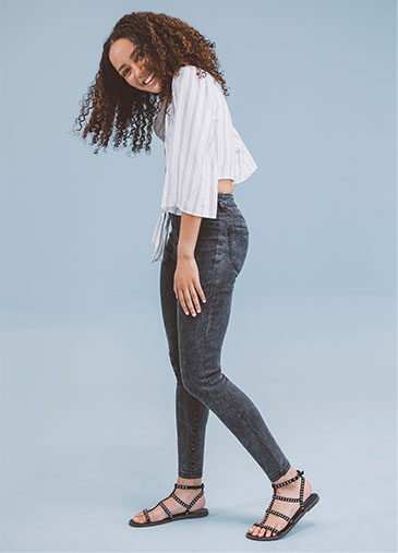 Ladies Jeans | Ripped & High Waisted | MRP Clothing