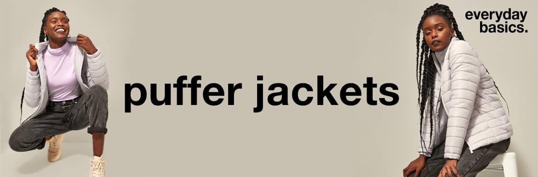 ladies everyday basics puffer jackets