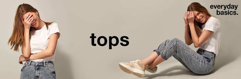 ladies everyday basics tops