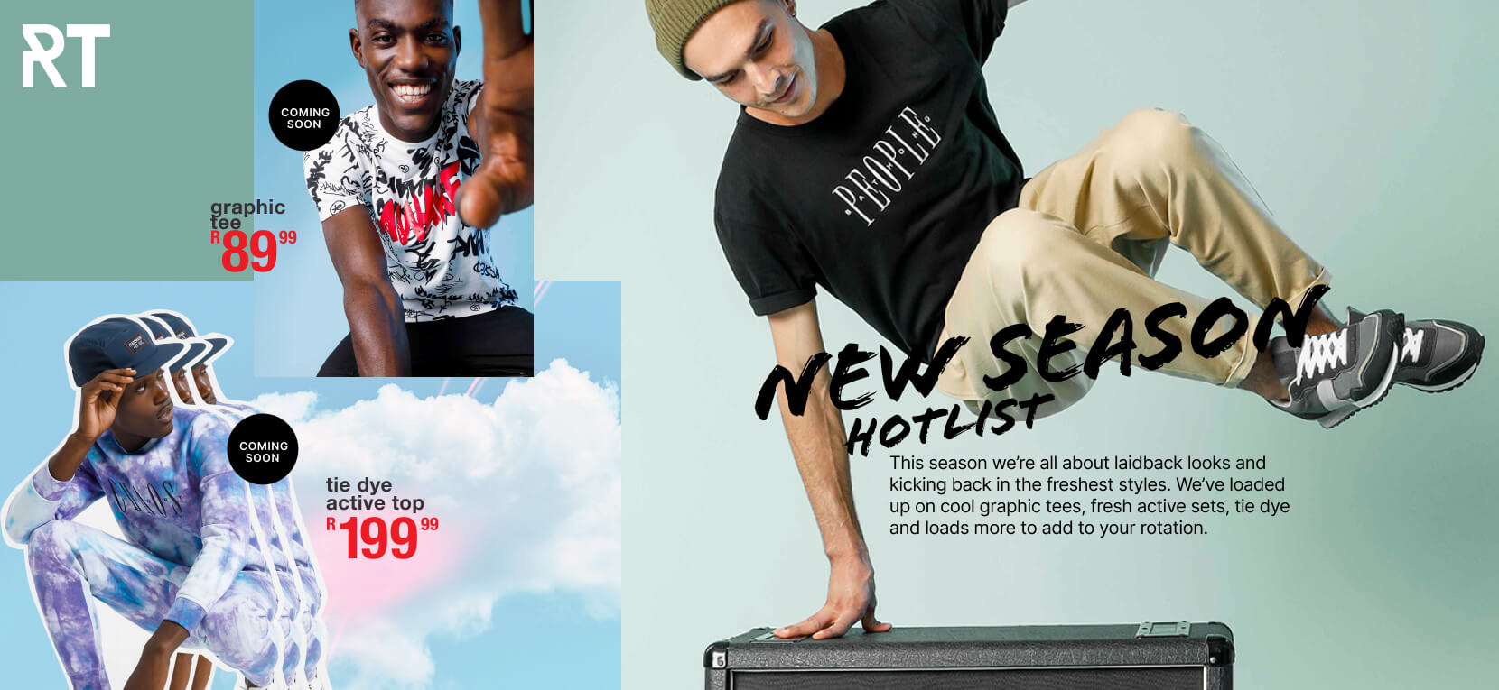 We're letting our latest drops do all the talking, with all new-new 'fits to get you on top of your drip game. Check out our tees in the hottest prints, bold accessories and more.