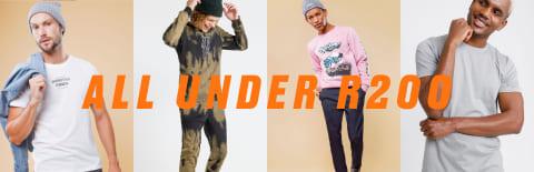mens fashion under 200 rand